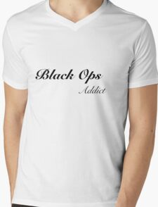 Black ops Addict Mens V-Neck T-Shirt