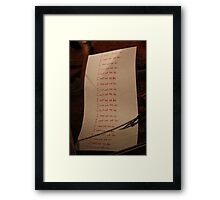I must not tell lies - Harry Potter Framed Print