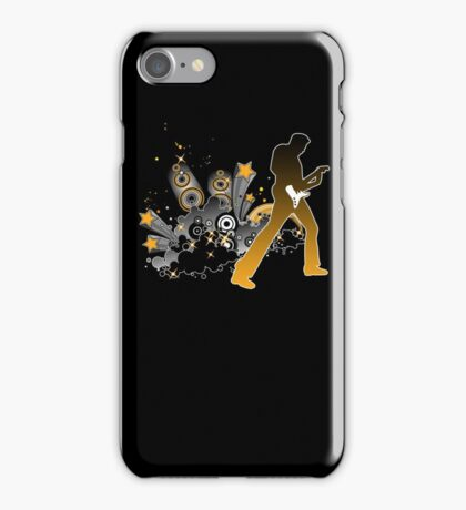 Classic Rock Guitar Player iPhone Case/Skin