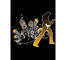 Classic Rock Guitar Player Photographic Print