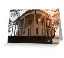 White Plantation House Greeting Card