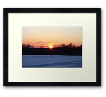 A Winter Sky Sunset Framed Print