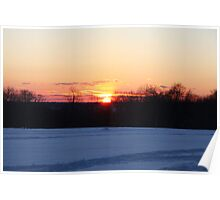 A Winter Sky Sunset Poster