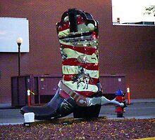 Cowboy boot, Cheyenne, Wyoming, USA by Margaret  Hyde