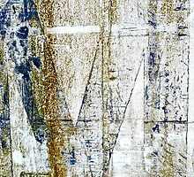 Old Sign By The Ocean Turned Abstract by Scott Johnson