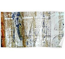 Old Sign By The Ocean Turned Abstract Poster
