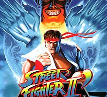 Street Fighter II Mega Drive Cover by TWMTees