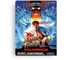 Street Fighter II Mega Drive Cover Canvas Print
