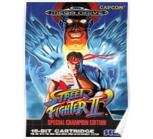 Street Fighter II Mega Drive Cover Poster