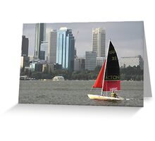 Surfcat on Perth Water.  Greeting Card