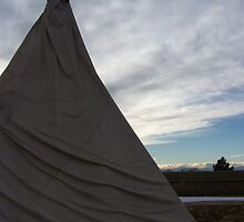 CANVAS TEEPEE AT FT VASQUEZ #2 by dragonindenver