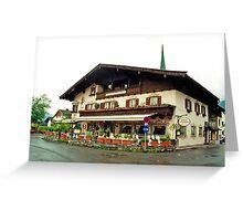 Trattoria at Kossen, Austria Greeting Card