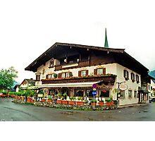 Trattoria at Kossen, Austria Photographic Print