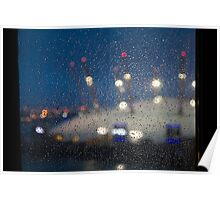 Rainy Pane, Dome Lights Poster