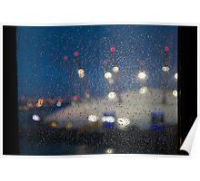Rainy Pane, Dome Lights Poster