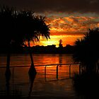 Sunrise over a flooded Brisbane by Writhe