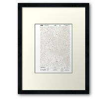 USGS Topo Map Oregon Groundhog Mountain 20110810 TM Framed Print