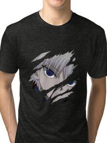 hunter x hunter killua assassin anime manga shirt Tri-blend T-Shirt