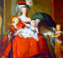 Marie Antoinette & Children by Al Bourassa