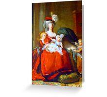 Marie Antoinette & Children Greeting Card