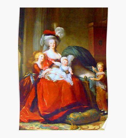Marie Antoinette & Children Poster