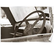 At the Wheel Poster