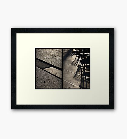 Morning at Heuvel (diptych) Framed Print