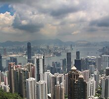 Hong Kong Harbour from Victoria Peak by JonoH