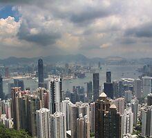 Hong Kong Harbour from Victoria Peak by JonoH
