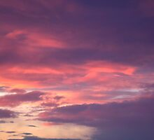 Red sky, sailor's delight by Harv Churchill
