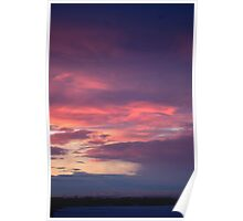 Red sky, sailor's delight Poster