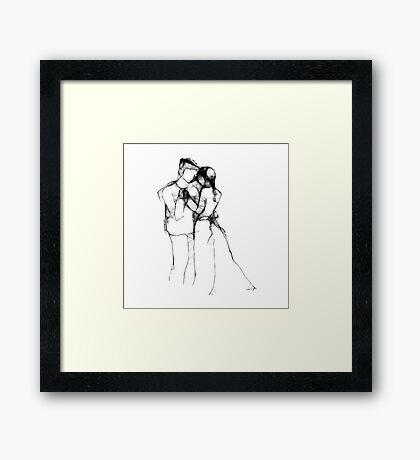 Love's Promise - Scribbler Framed Print