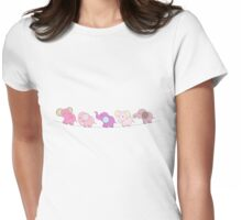 5 Pink Elephants Womens Fitted T-Shirt