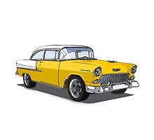 Chevy Bel Air Yellow by LawrenceA
