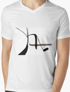 Abstract Ink Design  Mens V-Neck T-Shirt
