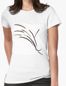 Abstract Black and White Design  Womens Fitted T-Shirt