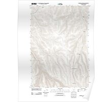 USGS Topo Map Oregon Freezeout Ridge 20110903 TM Poster