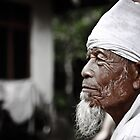 Bali - Indonesia: Elderly man in family commune by Chris Bishop