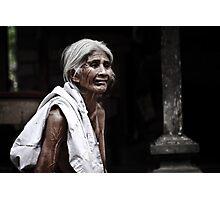 Bali - Indonesia: Elderly woman in family commune Photographic Print