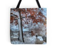 Hold on to those leaves Tote Bag