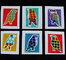 Mosaic Birds by carol selchert