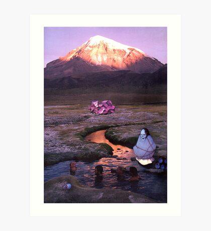 M Blackwell - Who's Watching You Swim? Art Print