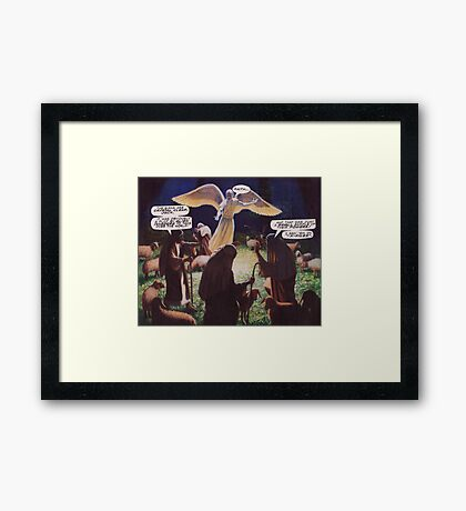 M Blackwell - The Signs are Crystal Clear... Framed Print