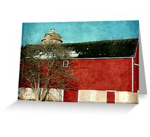 Old Red Barn ©  Greeting Card