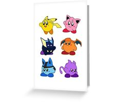 Kirbymon Greeting Card