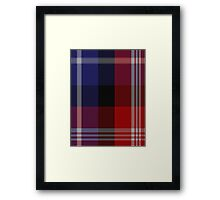 00127 American St. Andrews Societies Tartan  Framed Print