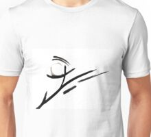 Black and White Abstract Design  Unisex T-Shirt