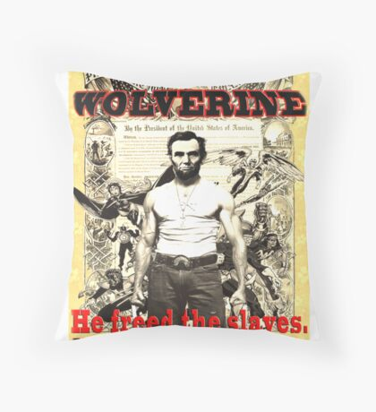 Wolverine-Lincoln Mutant Emancipation Throw Pillow