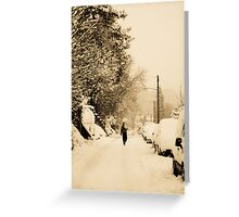 A Cold Walk Home Greeting Card