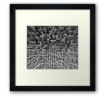 VISION OF THOUGHT ABSTRACT [1] GREY [2] Framed Print